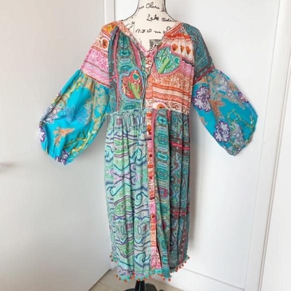 Antica Sartoria Dresses & Skirts - NWT Antica Sartoria Boho Dress/Tunic/Beach Coverup